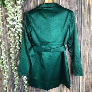 Nasty Gal Dresses - Nasty gal dress green 6 belted blazer dress FLAW